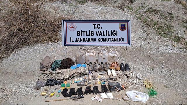 Bitliste araziye gizlenmiş patlamaya hazır TNT bulundu
