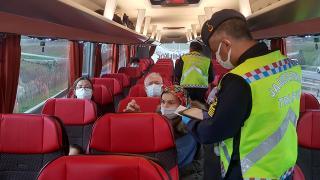 Şehirlerarası otobüslerde koronavirüs denetimi
