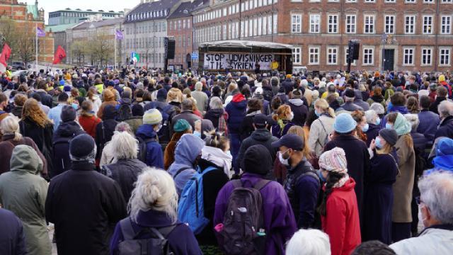 Danimarkada, Suriyeli mültecilerin gönderilmesi protesto edildi