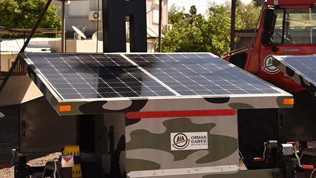 Türkiyeden KKTCye yangın gözetleme kamerası ve güneş paneli yardımı