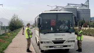 Malatya'da jandarma Covid-19 denetimi yaptı