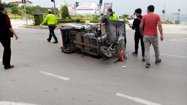 Adanada trafik kazası: 1 yaralı