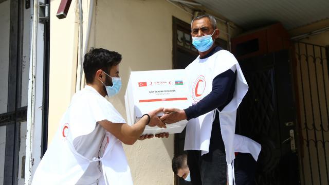Türk Kızılay Azerbaycanda 5 bin aileye gıda yardımı ulaştıracak