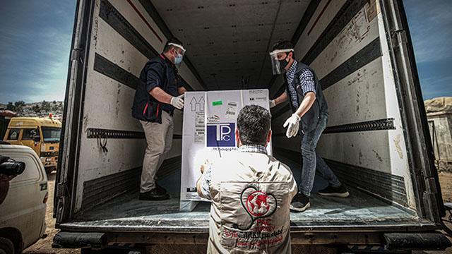 DSÖnün gönderdiği aşılar İdlibe ulaştı