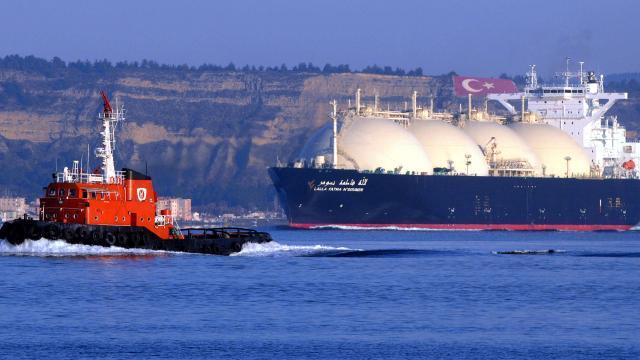 Cezayirden yola çıkan LNG gemisi Türkiye yolunda