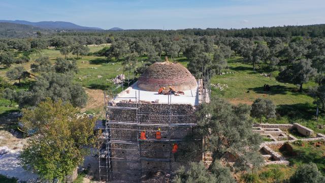 Muğlada 600 yıllık Yelli Camii restorasyonla eski ihtişamına kavuşuyor