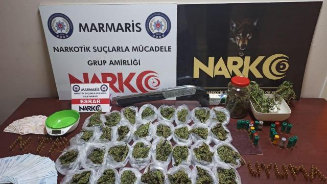 Muğlada uyuşturucu operasyonunda gözaltına alınan şüpheli tutuklandı