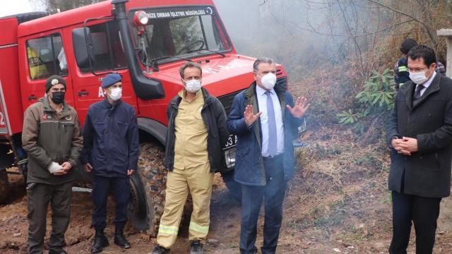 Rizede çıkan orman yangını söndürüldü