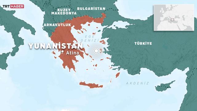 Yunanistanda 3,5 büyüklüğünde deprem
