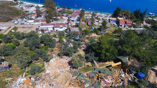 Muğladaki kaçak yapıların yıkımının birinci etabı tamamlandı