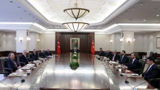 Cumhurbaşkanı Erdoğan, Cumhurbaşkanlığı Politika Kurulu Başkanvekilleri ile görüştü