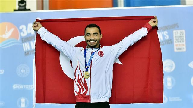 Milli cimnastikçi Ferhat Arıcandan altın madalya