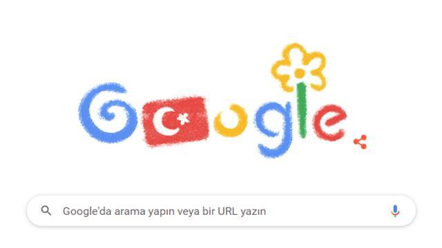 Googledan 23 Nisana özel doodle