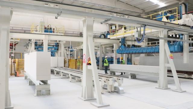 Samsunda gaz beton fabrikası kuruldu