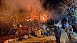 Giresun'da bir evde yangın çıktı