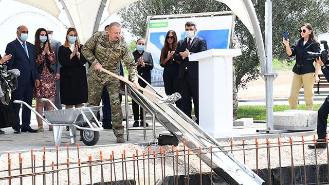 Azerbaycan Cumhurbaşkanı Aliyev, Zengilanda yeni havalimanının temelini attı