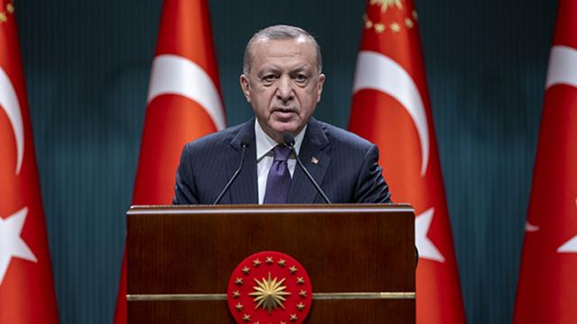 Cumhurbaşkanı Erdoğandan şehit ailelerine taziye mesajı