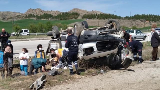 Çorumda trafik kazası: 5 yaralı