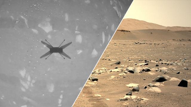 NASAnın Marsa indirdiği mini helikopterden ilk fotoğraf geldi