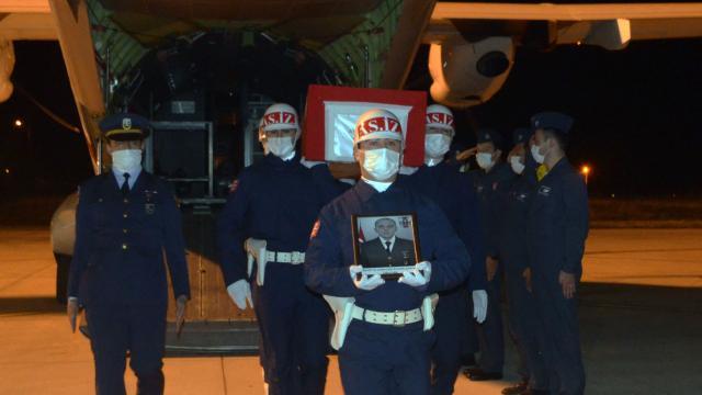 Şehit Uzman Çavuş Çakarın cenazesi Amasyaya getirildi
