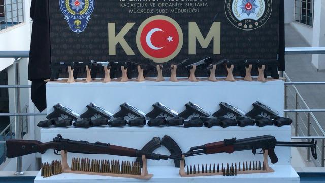 Adana merkezli 5 ilde düzenlenen silah kaçakçılığı operasyonunda 6 zanlı yakalandı