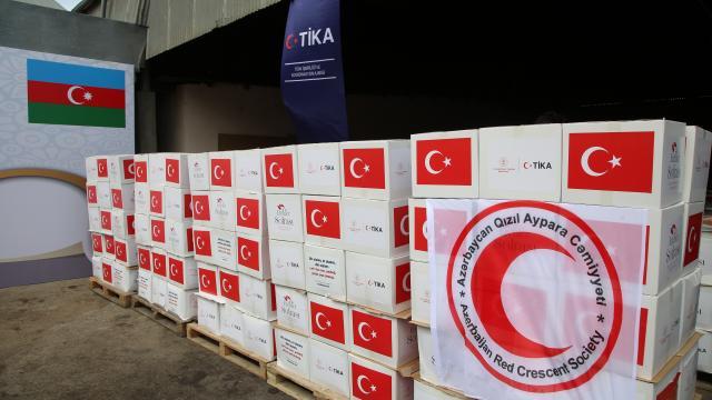 TİKAdan Azerbaycandaki ihtiyaç sahibi ailelere ramazan yardımı