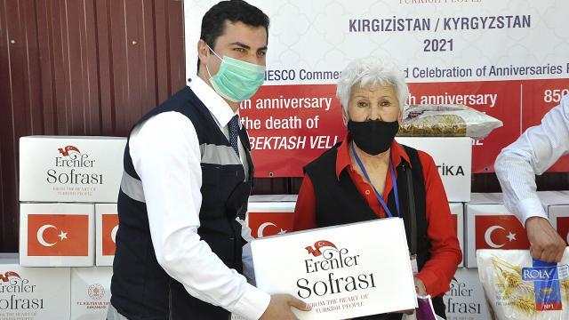 TİKAdan Kırgızistandaki ihtiyaç sahibi ailelere gıda yardımı