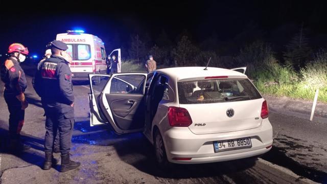 Tekirdağda kamyona arkadan çarpan otomobilin sürücüsü yaşamını yitirdi