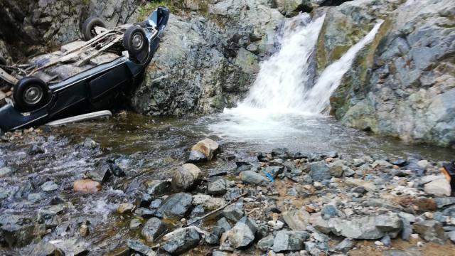 Giresunda dereye yuvarlanan otomobilin sürücüsü öldü