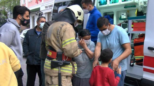 Güngörende çıkan yangında 1i çocuk 2 kişi dumandan etkilendi
