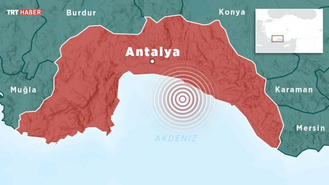 Alanya açıklarında 4 büyüklüğünde deprem