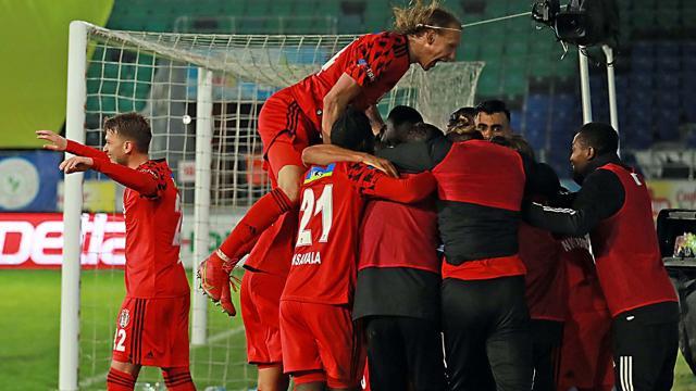 Beşiktaş Rizede galip