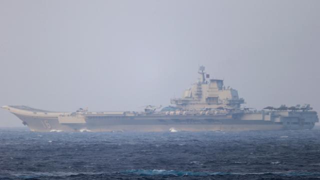 Çinin uçak gemisi, Japonyanın güneyindeki adaların arasından geçti