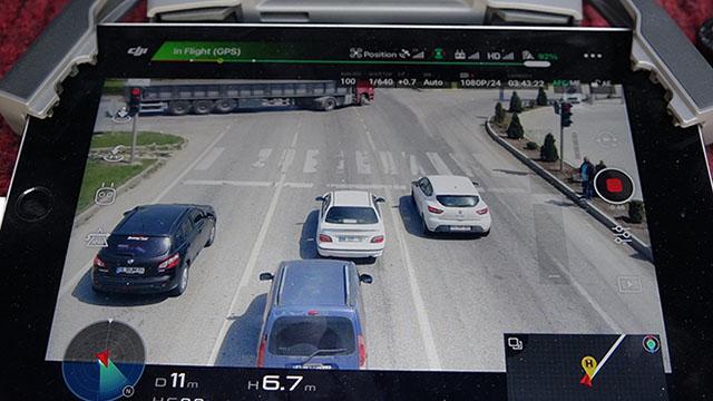 Işık ihlali yapan sürücüler dron ile tespit edildi