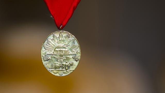 Gazilerin ailesine madalya