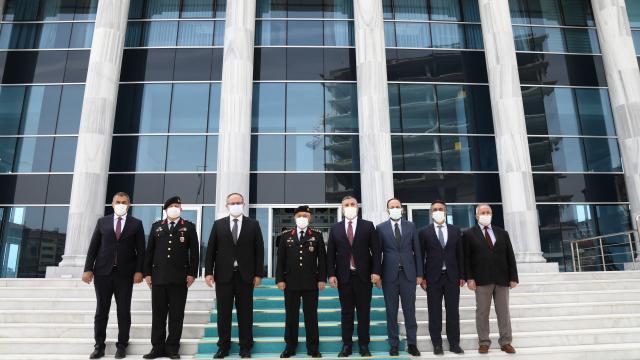 Jandarma Genel Komutanı Orgeneral Çetin, Çubukta ziyaretlerde bulundu