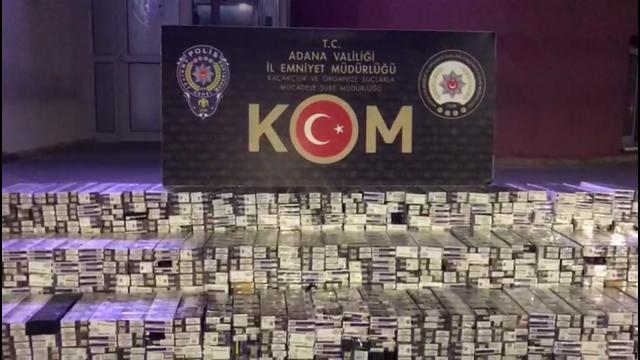 Adanada 10 bin paket kaçak sigara ele geçirildi