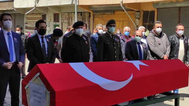 Karabükte vefat eden Kıbrıs gazisi Asım Kocakaya son yolculuğuna uğurlandı