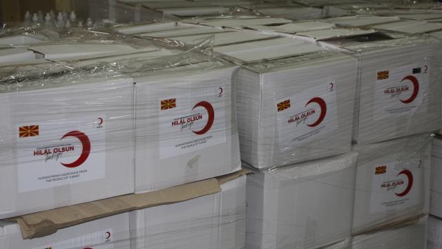 Türk Kızılaydan Kuzey Makedonyadaki ihtiyaç sahiplerine ramazan yardımı