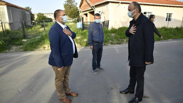 """Edirne Valisi Canalp köyleri ziyaret ederek """"tam kapanma"""" sürecinde tedbirlere uyulmasını istedi"""