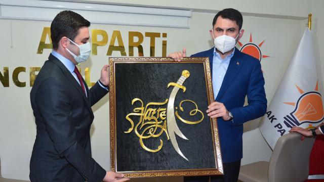 Çevre ve Şehircilik Bakanı Murat Kurum, AK Parti Tunceli İl Başkanlığını ziyaret etti