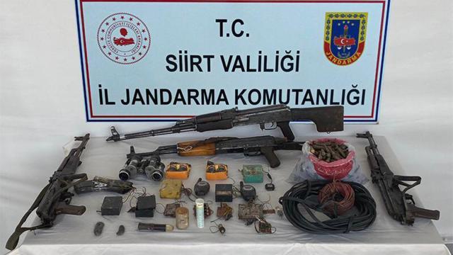 Siirtte terör operasyonu: Çok sayıda silah ve mühimmat bulundu