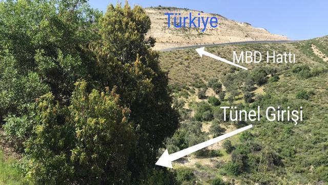 Suriye sınırında tünel tespit edildi