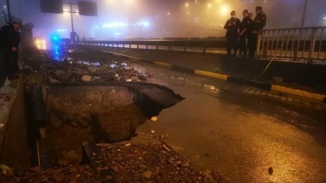 Trabzonda ana isale hattında patlama