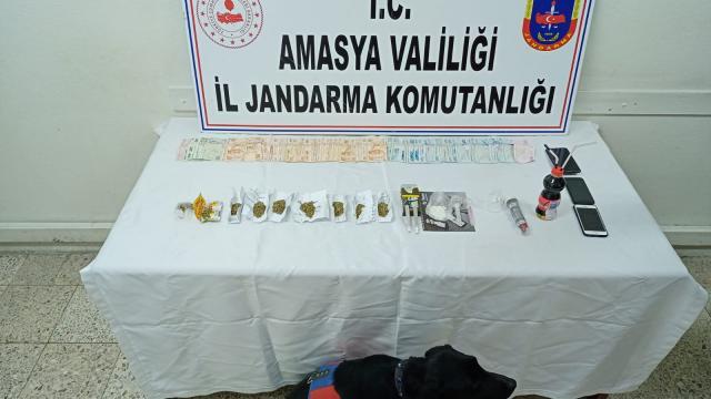 Amasyada araçlarında uyuşturucu bulunan 2 kişi tutuklandı