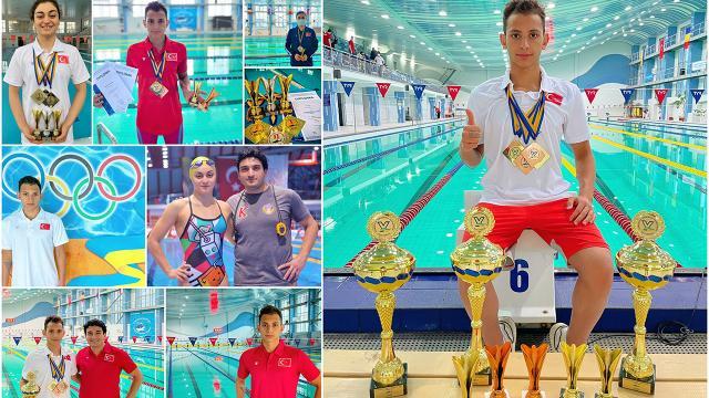 Milli yüzücülerden 8 madalya
