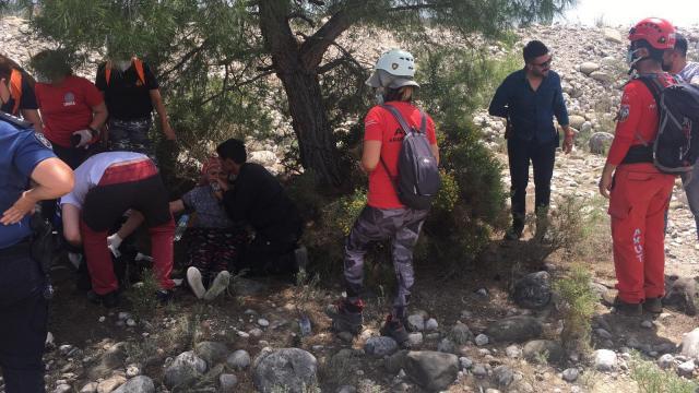 Muğlada dört gündür haber alınamayan kadın derenin kenarında bulundu