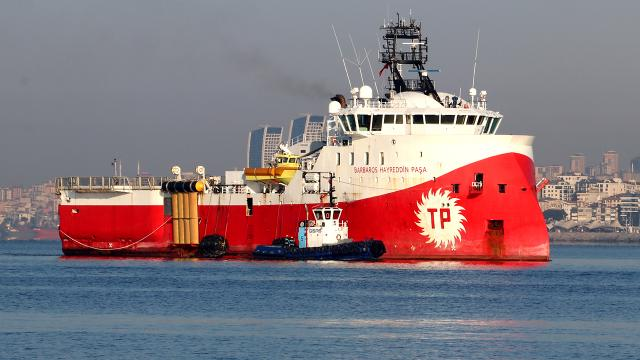 Barbaros Hayrettin Paşa gemisi Filyos Limanında