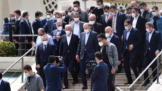 Cumhurbaşkanı Erdoğan İstanbulda cenaze törenine katıldı