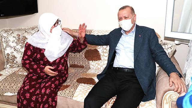 Cumhurbaşkanı Erdoğanın ziyaret ettiği Mahruze Keleş yaşadığı mutluluğu anlattı